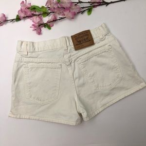 VTG Levi's 912 High Rise Denim White Jean Shorts